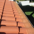 Fineleaf gutter protection painted to match roof colour