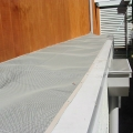 box gutters protected with leafshield's gutter protection system