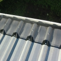 fineleaf gutter protection on a trimdeck roof