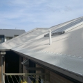 Leaf mesh installed on a corro roof