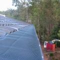 Blue Leaf mesh installed on gutters of a tile roof