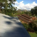 Corro gutter protection installed
